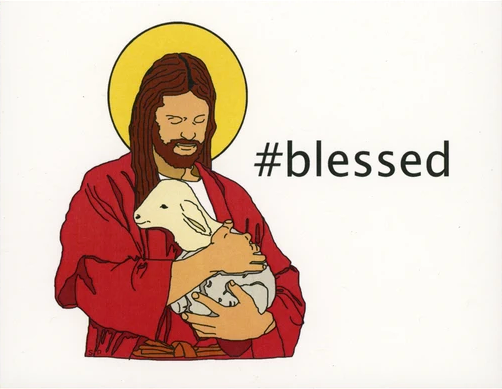 #Blessed Christmas Greeting Card