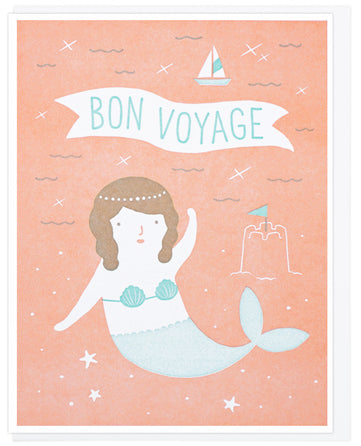 Bon Voyage Mermaid - Lucky Horse Press Greeting Card - Ottawa, Canada
