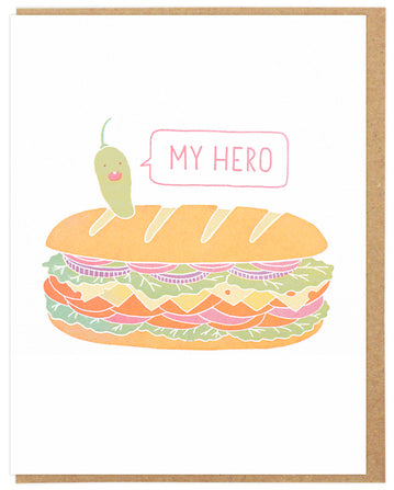 My Hero Pepperoncino - Lucky Horse Press Greeting Card - Ottawa, Canada