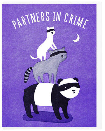 Partners In Crime - Lucky Horse Press Greeting Card - Ottawa, Canada