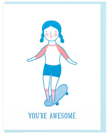 Awesome Skater - Lucky Horse Press Greeting Card - Ottawa, Canada