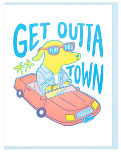 Get Outta Town - Lucky Horse Press Greeting Card - Ottawa, Canada