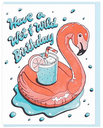 Wet & Wild Birthday - Lucky Horse Press Greeting Card - Ottawa, Canada