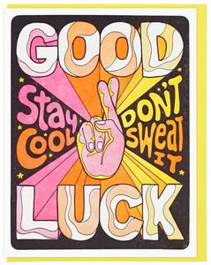 Good Luck, Stay Cool - Lucky Horse Press Greeting Card - Ottawa, Canada