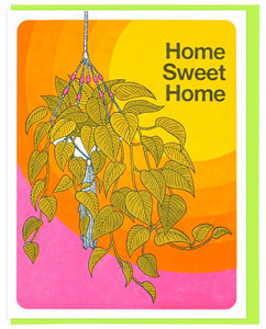 Hanging Plant - Lucky Horse Press Greeting Card - Ottawa, Canada