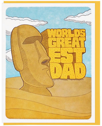 Moai Dad - Lucky Horse Press Greeting Card - Ottawa, Canada
