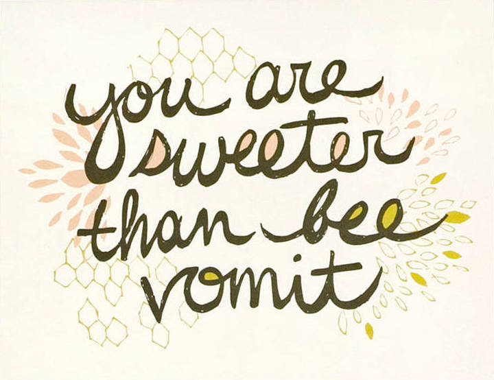 Bee Vomit Greeting Card