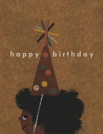 Afro Birthday - Red Cap Greeting Card - Ottawa, Canada