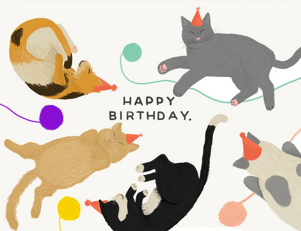 Cats Birthday Greeting Card