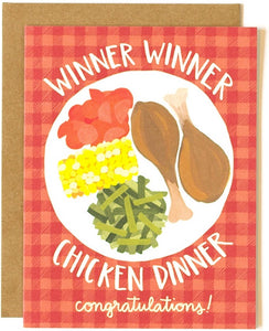Chicken Dinner Greeting Card