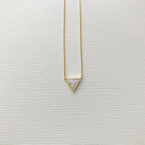 Sparkle Triangle Necklace