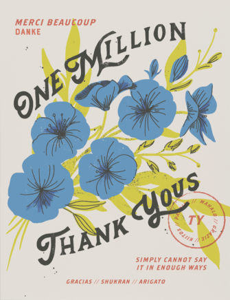 One Million Thank Yous Greeting Card