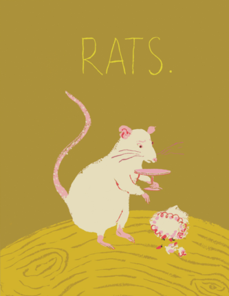 Rats - Red Cap Greeting Card - Ottawa, Canada