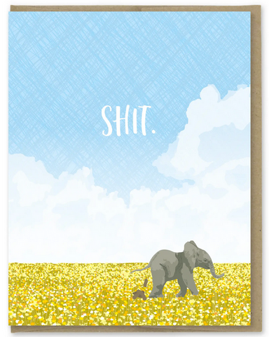Elephant Shit Greeting Card