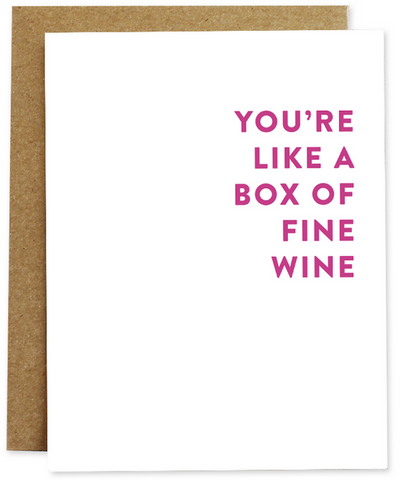 Box Of Fine Wine Greeting Card