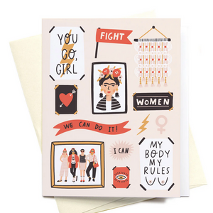 You Go Girl Feminist Wall Greeting Card
