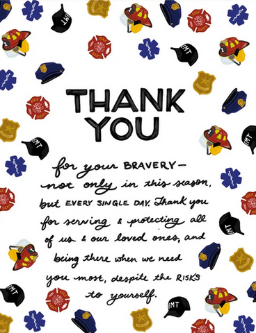 First Responder Thank You Greeting Card