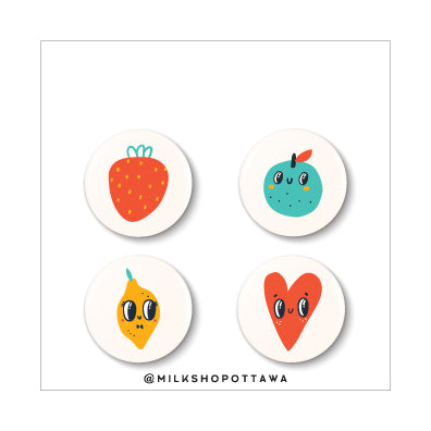 Fruity Tootie Pinback Button Set