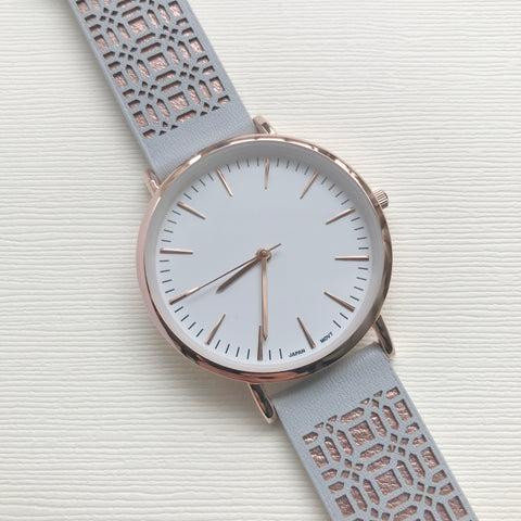Gatsby Watch Grey - Milk - Ottawa Clothing & Accessories Shop