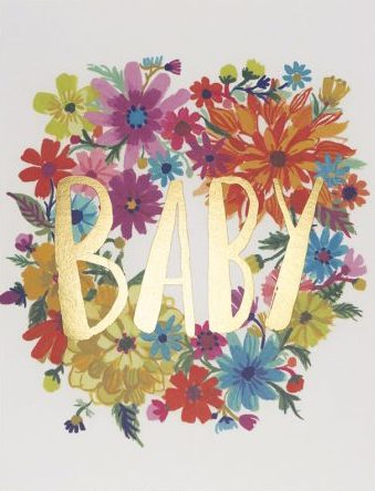 Baby Bouquet Greeting Card