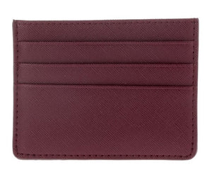 Single Sided Card Holder - Burgundy