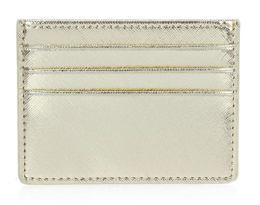 Single Sided Card Holder - Gold