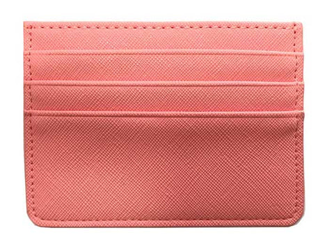 Single Sided Card Holder - Coral
