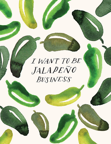 Jalapeno Business Greeting Card