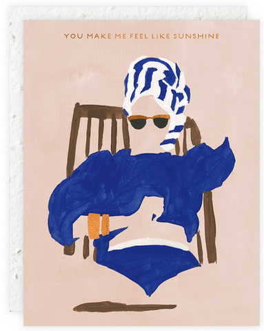 Girl In Chair Greeting Card