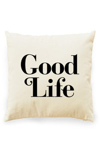 Good Life Pillow Cover Natural