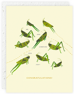 Grasshoppers Greeting Card