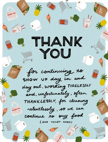 Grocery and Restaurant Thank You Greeting Card