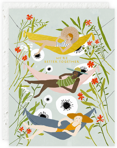 Hammock Girls Greeting Card