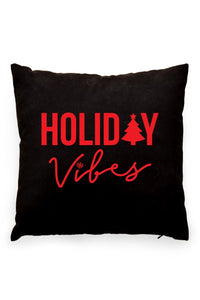 Holiday Vibes Pillow Cover Black