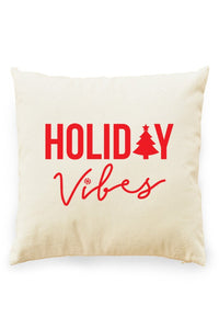Holiday Vibes Pillow Cover Natural