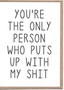 You're The Only Person Greeting Card