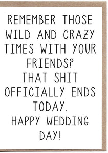 Wild And Crazy Times Greeting Card