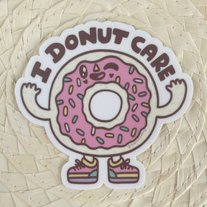 I Donut Care Sticker