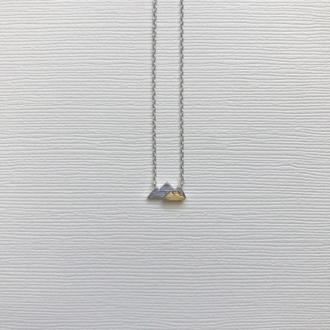 Double Tone Mountain Necklace