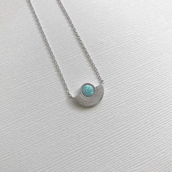 Half Moon Opal Necklace