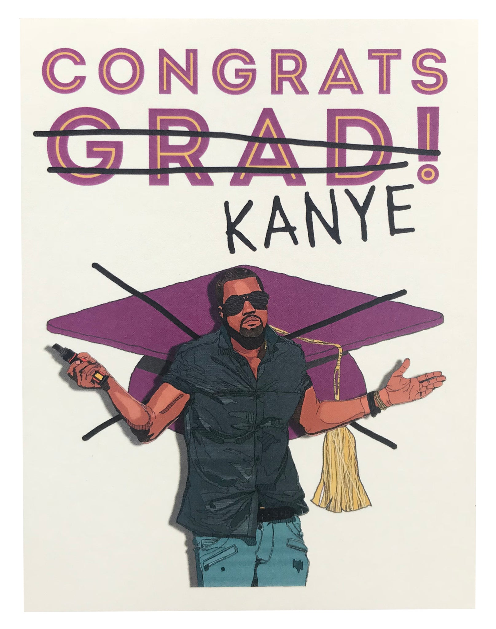 Kanye Graduation Greeting Card