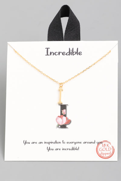 Initial Charm Necklace Gold