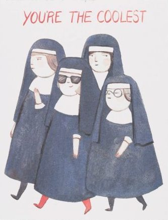 Cool Nuns Greeting Card