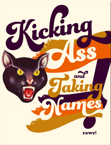 Kicking Ass Greeting Card
