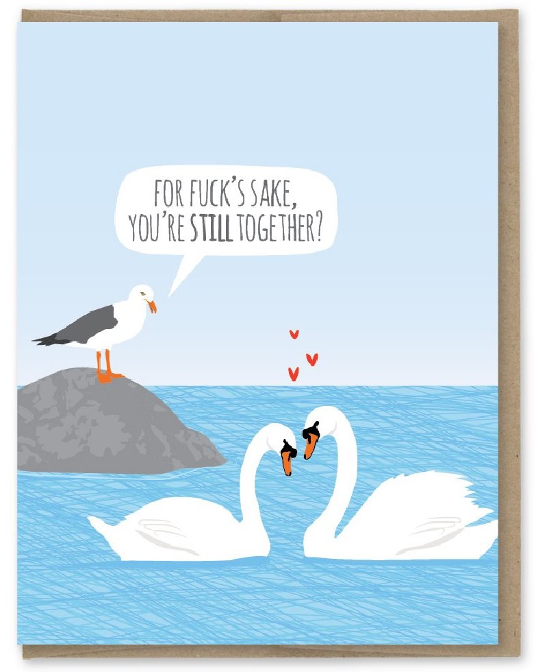 You're Still Together - Modern Printed Matter Greeting Card - Ottawa, Canada