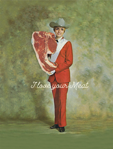 Meat Girl Greeting Card