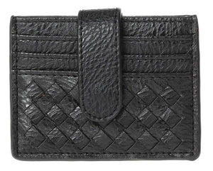 Braided Multi Slot Card Case - Black
