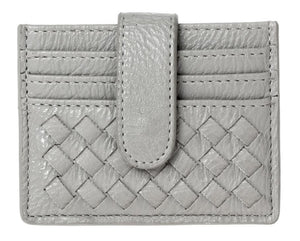 Braided Multi Slot Card Case - Grey