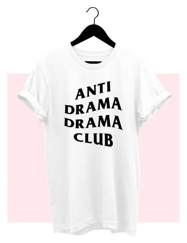 Anti Drama Drama Club T-Shirt - White