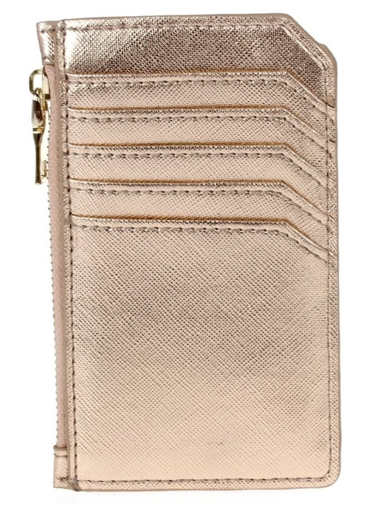 Multi Pocket Card Case - Rose Gold